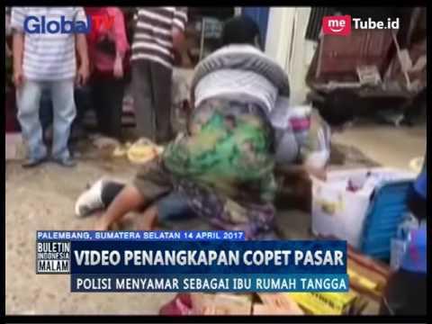 Video Amatir, Polisi Menyamar Menjadi Ibu Berdaster Demi Tangkap Copet - BIM 1404