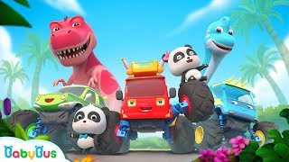 Baby Panda and Super Monster Cars   T-Rex