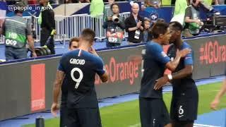 Olivier Giroud célèbre son but pendant le match France - Pays-Bas - 09.09.18