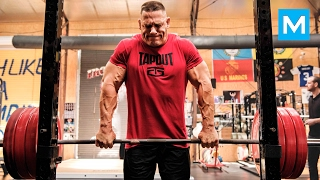 John Cena Strength Workout for WWE | Muscle Madness