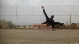 Africa  BBOY tee power flash airflare 2017 training combo power moves.