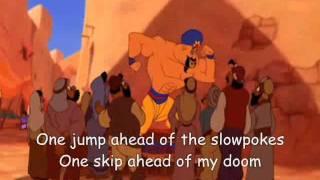 One Jump Ahead Aladdin Lyrics