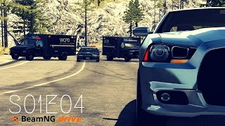 Beamng Drive Movie: Epic Police Chase (+Sound Effects) |PART 4| - S01E04