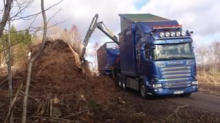 Scania R620 Bruks Flishugg V8