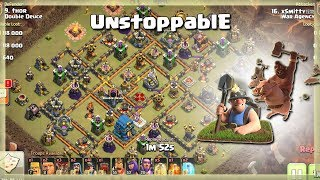 Th12 UNSTOPPABLE Army: Mass MINER + HOG | TH12 War Strategy #57 | COC 2018 |