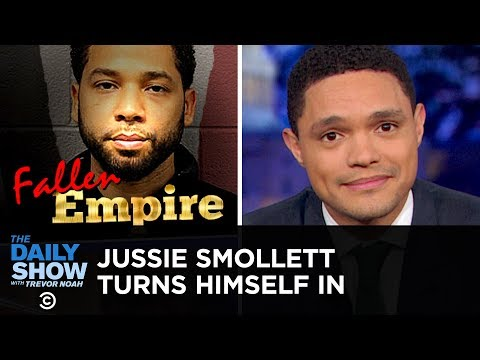 Jussie Smollett Turns Himself in to Police for Staging a Hate Crime   The Daily Show