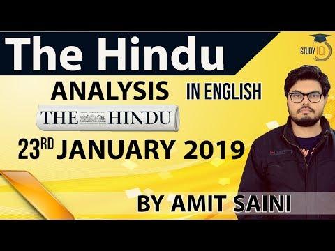Xxx Mp4 English 23 January 2019 The Hindu Editorial News Paper Analysis UPSC SSC IBPS Current Affairs 3gp Sex
