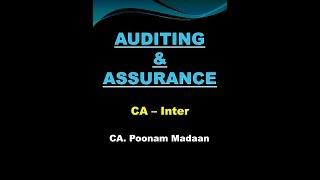 Audit CA IPCC: Lecture No. 1