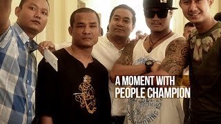 Tway Ma Shaung interview Episode 1, A moment with people champion of lethwei fight
