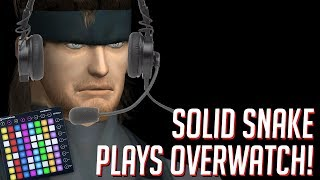 Solid Snake Plays OVERWATCH! Soundboard Pranks in Competitive!