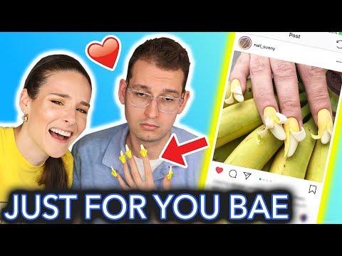 Giving My Boyfriend Banana Nails peel me baby