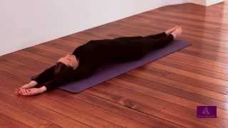 Hatha yoga - the sun and moon pose