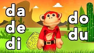 Sílabas da de di do du - El Mono Sílabo - Videos Infantiles - Educación para Niños #
