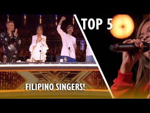 TOP 5 Most AMAZING FILIPINO SINGERS EVER ON X FACTOR UK!
