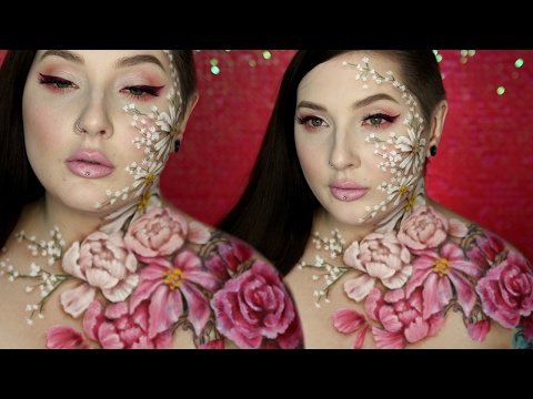 Xxx Mp4 Valentine 39 S Day Flower Body Paint Amp Makeup Tutorial W Alex Faction 3gp Sex
