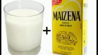 receita caseira para alisar o cabelo com (leite e maizena)