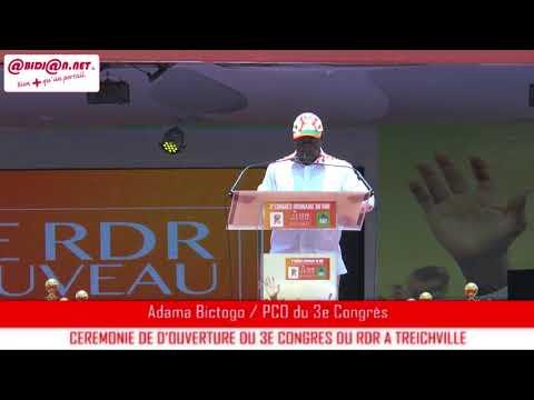 Ouverture du 3ème congrès ordinaire du RDR: Allocution du Président du comité d'organisation