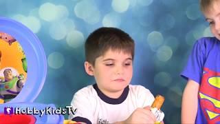 BIGGEST TOILET Toy Surprises! Minecraft, Candy Bars Toy Story MLP + Disney HobbyKidsTV