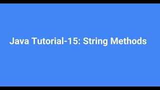 Java For Beginners Bangla ((বাংলা) -15-  Java String Methods