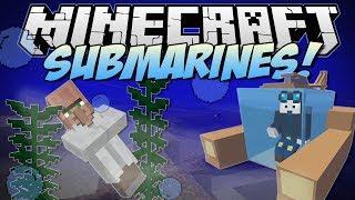 Minecraft   SUBMARINES! (Underwater Villages, Atlantis Tools & More!)   Mod Showcase