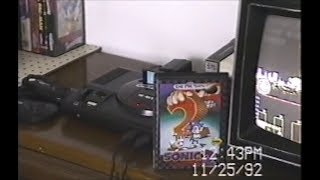 VHS footage of my game room in the 90