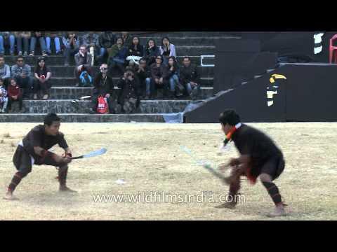Thang ta - Manipuri Martial Art displayed at the Nagaland Hornbill festival