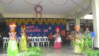 Baesa Elementary School grade 2 ; dancing HAWAIIAN 5 0