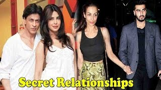 Top 10 Secret Relationships In Bollywood Shocked The World | Bollywood Fun Facts