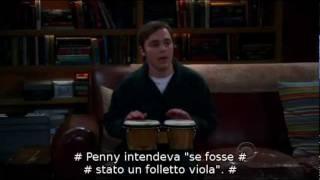 Sheldon Cooper plays the Bongos