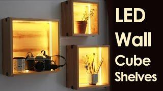 LED Wall Cube Shelves