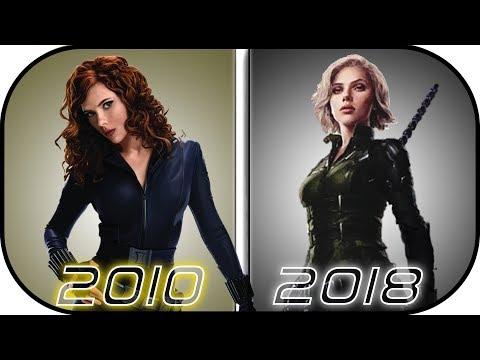 EVOLUTION of BLACK WIDOW in Movies (2010-2018) Natasha Romanoff History in Avengers Infinity War