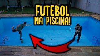 DESAFIO DO FUTEBOL NA PISCINA VAZIA !!! [ REZENDE EVIL ]
