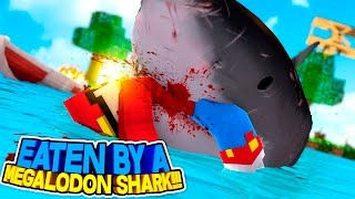 Minecraft Adventure - THE MEGALODAN SHARK EATS ROPO!!