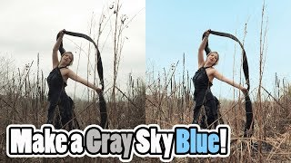 Adobe Photoshop CC Tutorial: How to Make the Sky Blue: Quick and Easy How To