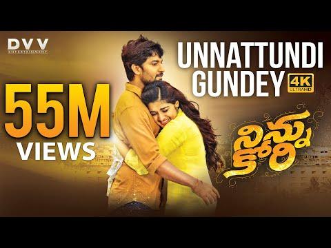 Ninnu Kori Telugu Movie Full Songs 4K   Unnattundi Gundey Video Song   Nani   Nivetha Thomas   Aadhi