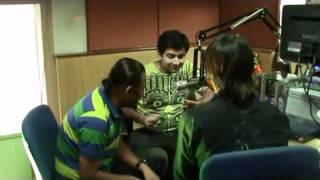 tochi raina , sachin - jigar and sona mohpatra with rj rohit on radio city