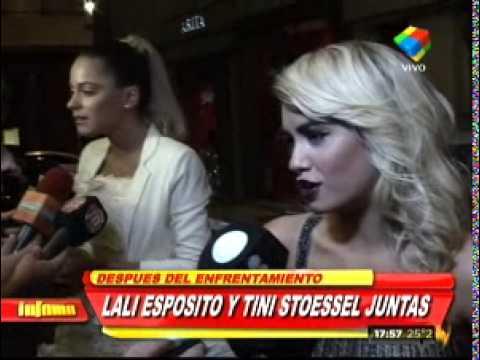 Así fue el encuentro de Tini Stoessel y Lali Espósito