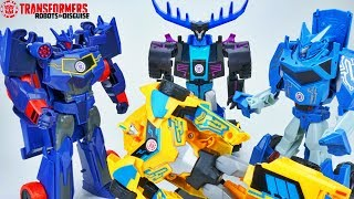 TRANSFORMERS ROBOTS IN DISGUISE NEW SOUNDWAVE STEELJAW THUNDERHOOF BEAT BUMBLEBEE 3 STEP CHANGER TOY