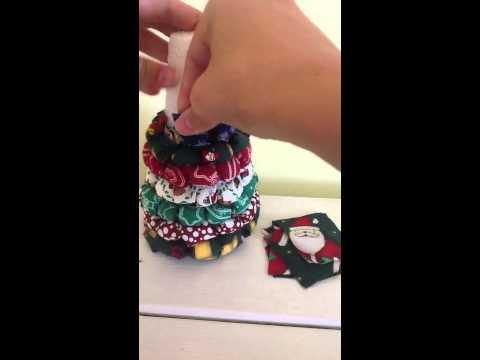 Fabric Christmas tree tutorial