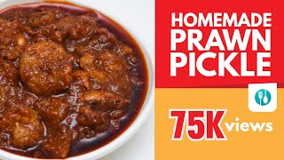 HOMEMADE PRAWN PICKLE | The Making | Delicious | Kerala cooking style |