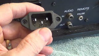 How to Replace an Inlet Power Plug Socket - JVC Vidstar