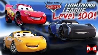McQueen, Storm, Ramirez on Cars Lightning League Level 100 - Fully Upgraded