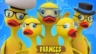 Five Big Ducks Jumping On The Bed | Nursery Rhymes Songs For Children | Five Little Ducks