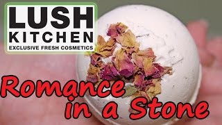 Lush UK Kitchen - Romance in a Stone Bath Bomb - Underwater View - Demo - Review