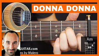 Donna Donna Guitar Lesson - part 1 of 4