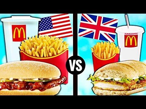AMERICAN vs. BRITISH McDonald s Food