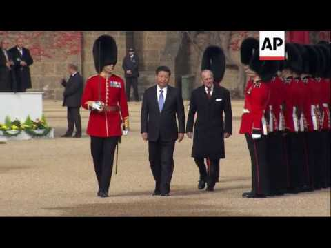 China's Xi inspects guard at welcome