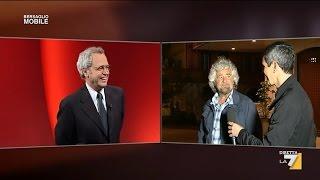 Beppe Grillo intervistato in diretta da Perugia - 08/05/15