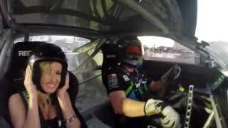 SEMA 2014 - Jessica Barton Rides Along with Vaughn Gittin, Jr. and Talks About the 2015 RTR Mustang