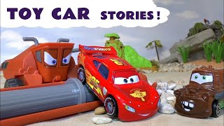 Disney Cars Toys McQueen family fun toy stories with Thomas and Friends Hot Wheels and a Shark